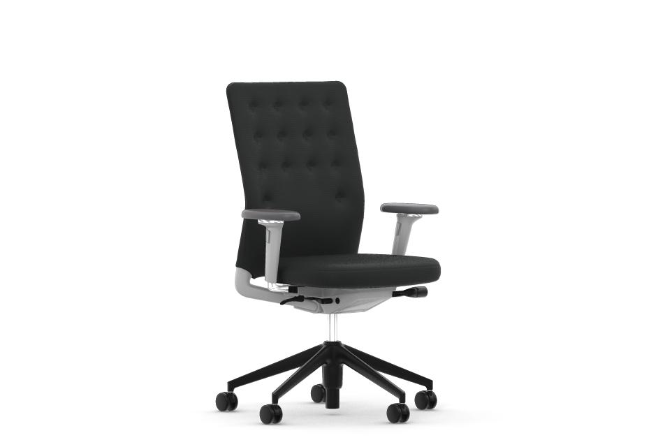 vitra id chair id trim mit armlehnen stoffbezug plano nero b rost hle designshop streit inhouse. Black Bedroom Furniture Sets. Home Design Ideas