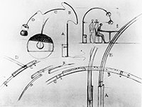 Originalzeichnung von A. und P.G. Leuchte Arco
