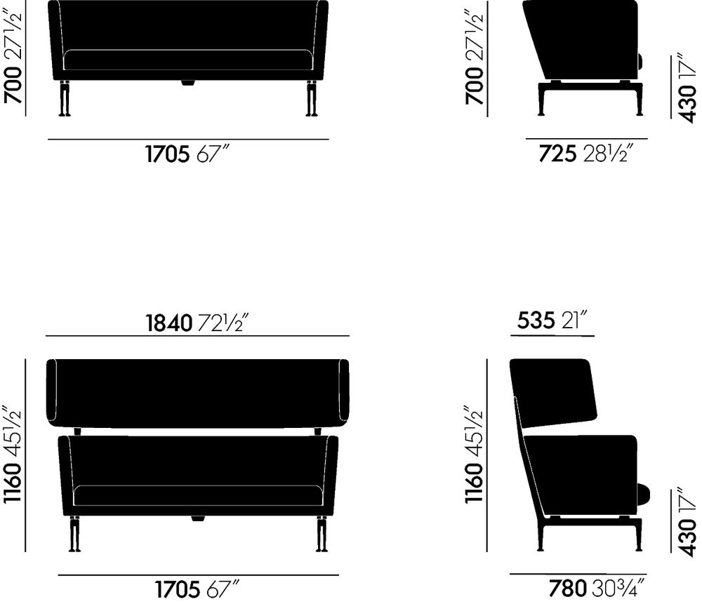 vitra suita club sofa sofa lounge designshop streit inhouse. Black Bedroom Furniture Sets. Home Design Ideas