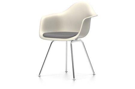 Eames Plastic Armchair : Vitra eames plastic armchair dax sitzschale crème mit polster