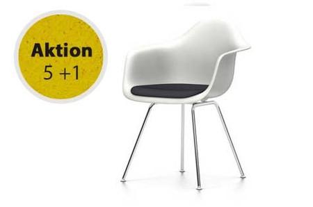 Eames Plastic Armchair : Vitra eames plastic armchair dax sitzschale weiss mit polster