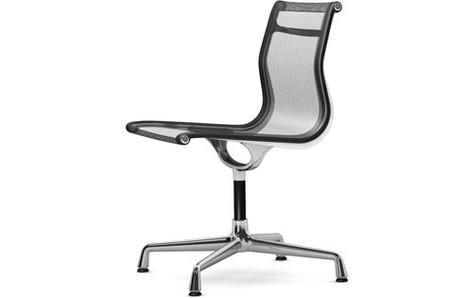Vitra Alu Chair EA 101 Netzgewebe dunkelgrau