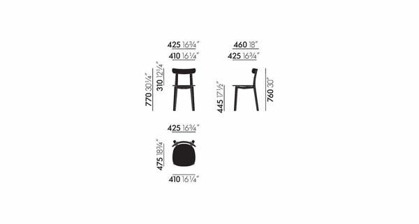 Vitra All Plastic Chair Masse