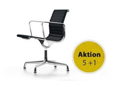 Vitra Aluminium Chair EA 108 Leder