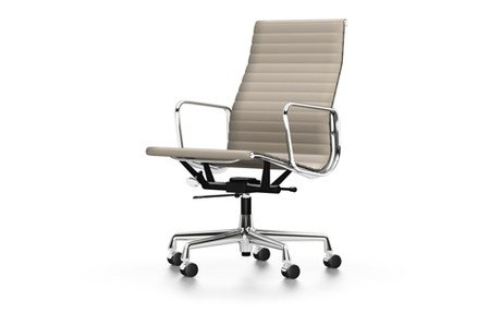 Vitra Alu Chair EA 119 Leder sand