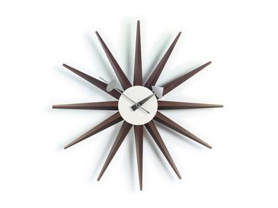 Vitra Wall Clock Sunburst Nussbaum