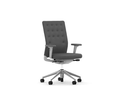 Vitra ID Chair ID Trim mit Armlehnen Stoffbezug Plano sierragrau/nero