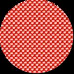 poppy red:elfenbein