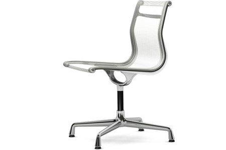 Vitra Alu Chair EA 101 Netzgewebe weiss