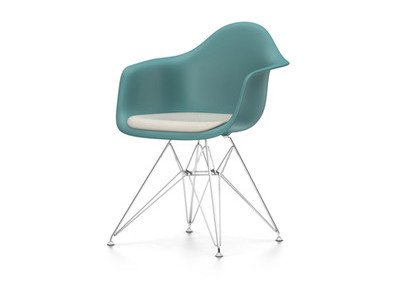 Vitra Eames Plastic Armchair DAR mit Sitzpolster