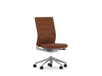 Vitra ID Chair ID Trim ohne Armlehnen Stoffbezug Plano kastanie/cognac