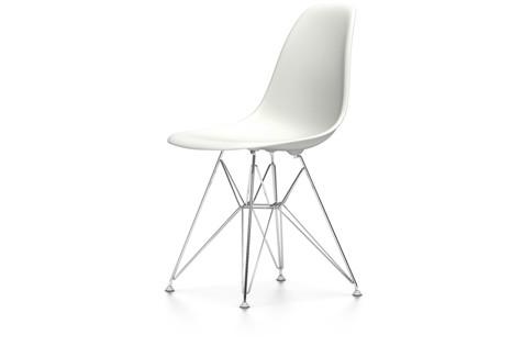 Vitra Eames SideChair DSR UG Verchromt Weiß