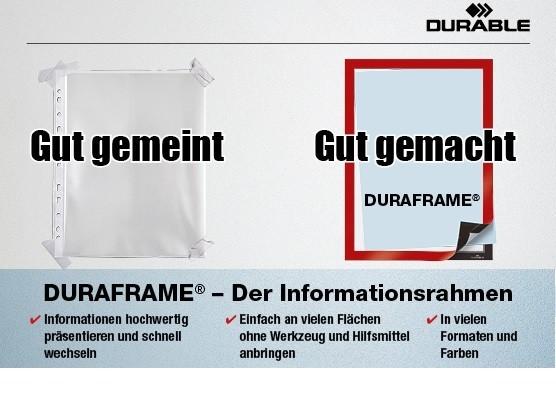 DURAFRAME Infotaschen